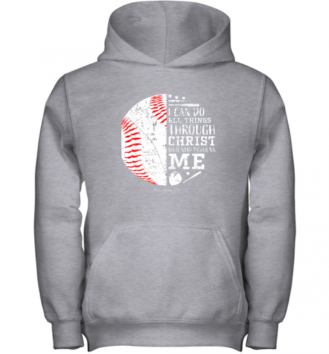 nrrl christian baseball shirts i can do all things through christ youth hoodie 43 front sport grey
