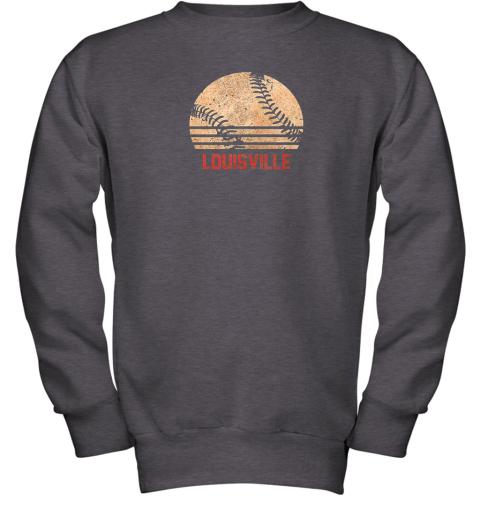 pl13 vintage baseball louisville shirt cool softball gift youth sweatshirt 47 front dark heather
