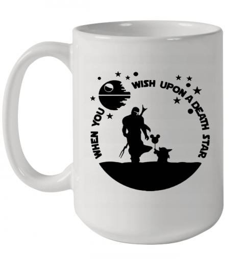 When You Wish Upon A Death Star The Mandalorian Baby Yoda Ceramic Mug 15oz