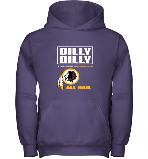 5j5v a true friend of the redskins youth hoodie 43 front purple