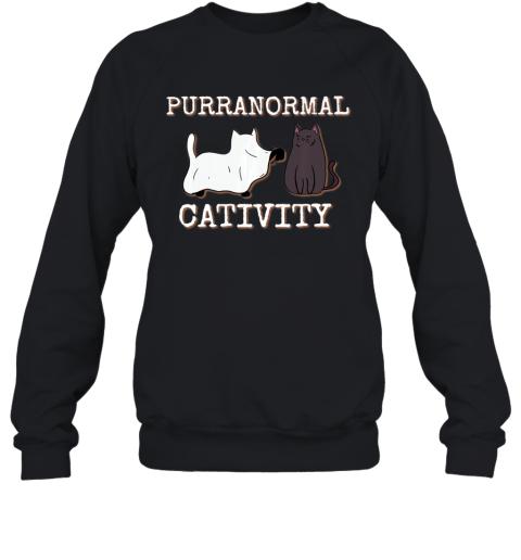Purranormal Cativity Funny Halloween Ghost Cat girls Gifts Premium Sweatshirt