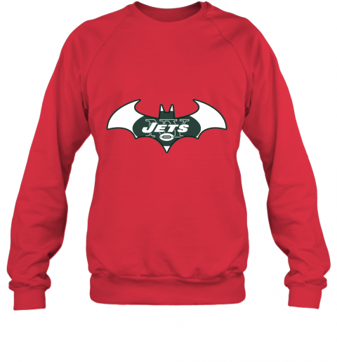 l5vy we are the new york jets batman nfl mashup sweatshirt 35 front red