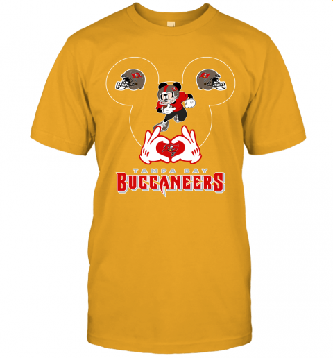 1zmc i love the buccaneers mickey mouse tampa bay buccaneers s jersey t shirt 60 front gold