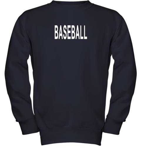 nm26 shirt that says baseball youth sweatshirt 47 front navy