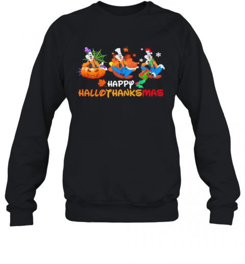 Pluto Happy Hallothanksmas Halloween Thanksgiving Christmas Sweatshirt