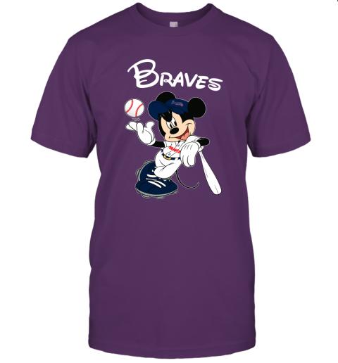 Baseball Mickey Team Atlanta Braves Unisex Jersey Tee