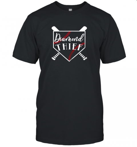 Diamond Thief Baseball Softball School Sport Funny Unisex Jersey Tee