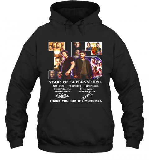 15 Years Of Supernatural 2005 2020 Thank You For The Memories Signature Hoodie