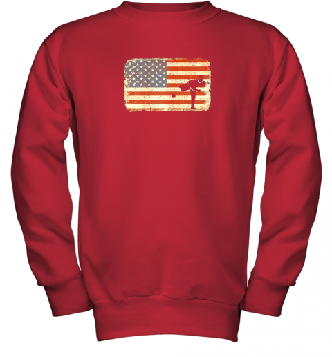 rpzk vintage baseball pitcher shirt american flag youth sweatshirt 47 front red
