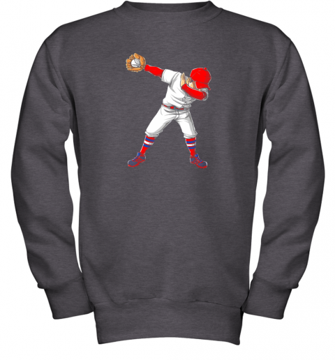 nlps dabbing baseball t shirt funny dab dance shirts boys girls youth sweatshirt 47 front dark heather