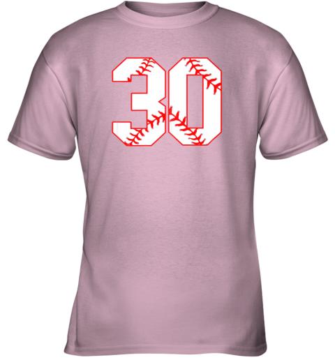 vwj1 thirtieth birthday party 30th baseball shirt born 1989 youth t shirt 26 front light pink