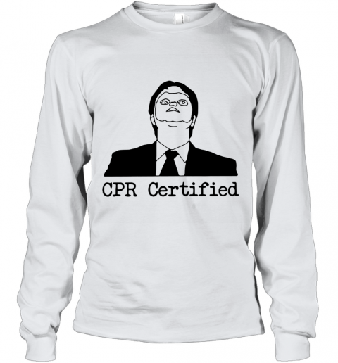 First Aid Fail CPR Certified The Office Youth Long Sleeve