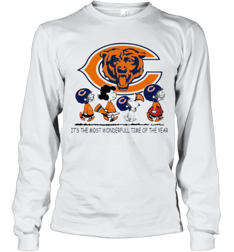 The Peanuts Characters Chicago Bear Its The Most Wonderful Time Of The Year Long Sleeve T-Shirt