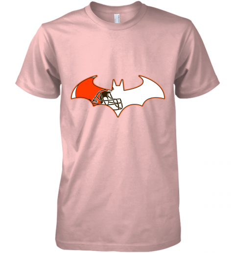 epgb we are the cleveland browns batman nfl mashup premium guys tee 5 front light pink