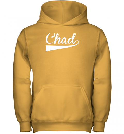 j1we chad country name baseball softball styled youth hoodie 43 front gold