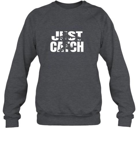 5yub just catch baseball catchers long sleeve shirt baseballisms sweatshirt 35 front dark heather