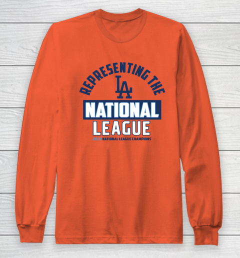 Representing the Los Angeles Dodgers National League 2020 Champions Long Sleeve T-Shirt 3