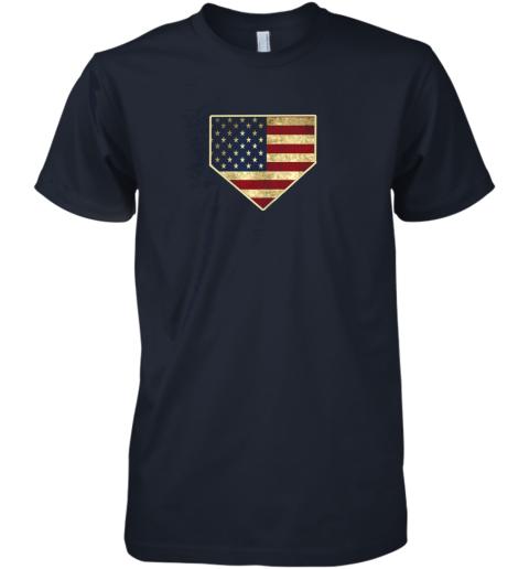uj4v vintage american flag baseball shirt home plate art gift premium guys tee 5 front midnight navy