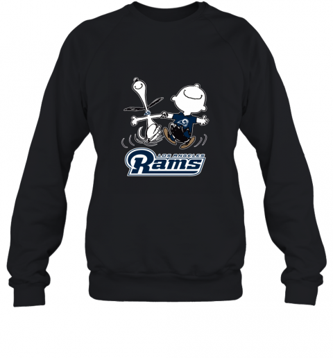 Snoopy And Charlie Brown Happy Los Angeles Rams Sweatshirt