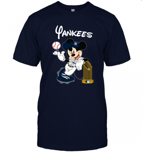 kmlj new york yankees mickey taking the trophy mlb 2019 jersey t shirt 60 front navy