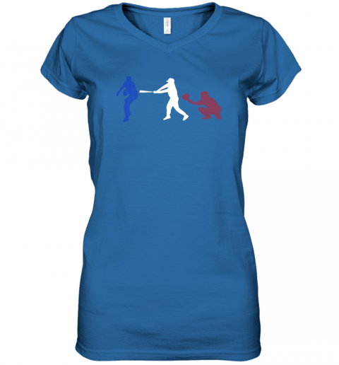 ruhf baseball usa flag american tradition spirit women v neck t shirt 39 front royal