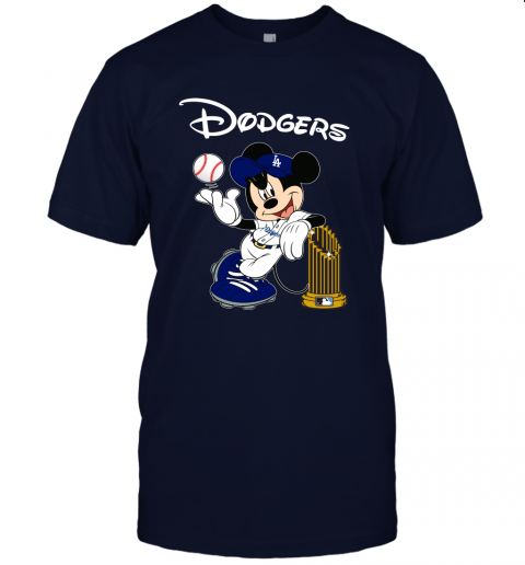 Los Angeles Dodgers Mickey Taking The Trophy MLB 2019 Unisex Jersey Tee