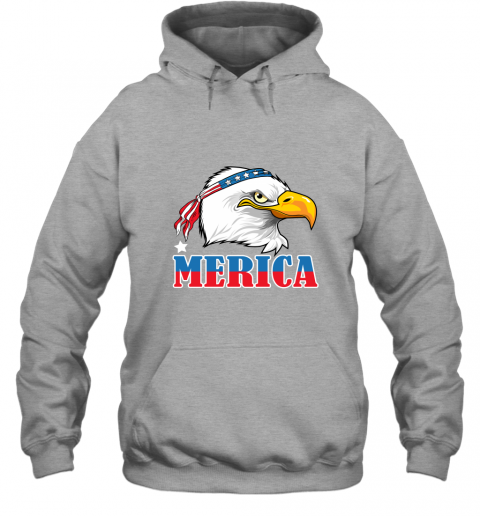 Eagle Mullet 4th Of July American Flag Merica USA Hoodie
