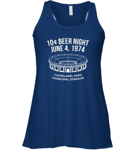 cqnp cleveland baseball shirt retro 10 cent beer night flowy tank 32 front true royal