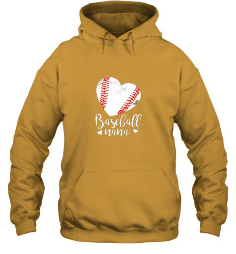 ztmy funny baseball nana shirt gift for men women hoodie 23 front gold