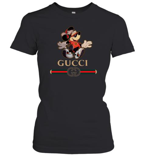 Gucci Mickey Fashion Stylelist Music Womens T-Shirt