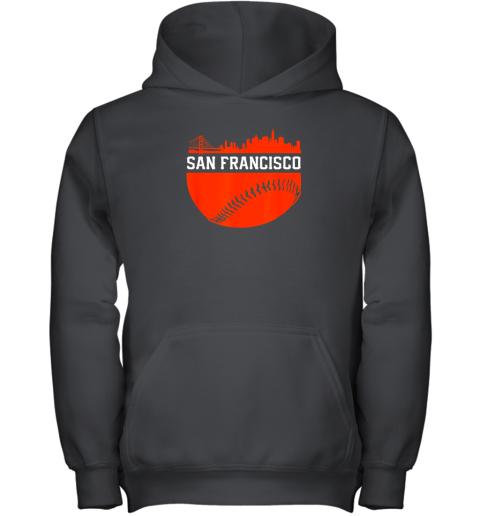 San Francisco Baseball Vintage SF The City Skyline Gift Youth Hoodie