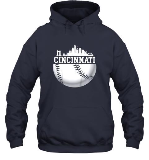 hd4y vintage downtown cincinnati shirt baseball retro ohio state hoodie 23 front navy
