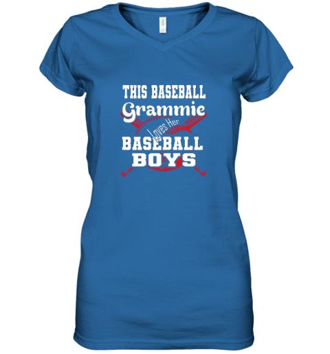 mlmy this baseball grammie loves her baseball boys women v neck t shirt 39 front royal