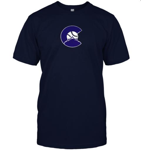 pog3 colorado rocky mountain baseball sports team jersey t shirt 60 front navy