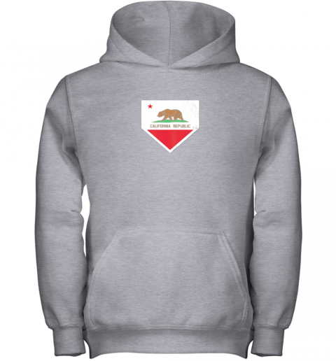 tw8b vintage baseball home plate with california state flag youth hoodie 43 front sport grey