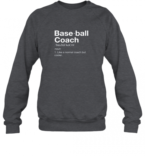 mswx coach baseball shirt team coaching sweatshirt 35 front dark heather