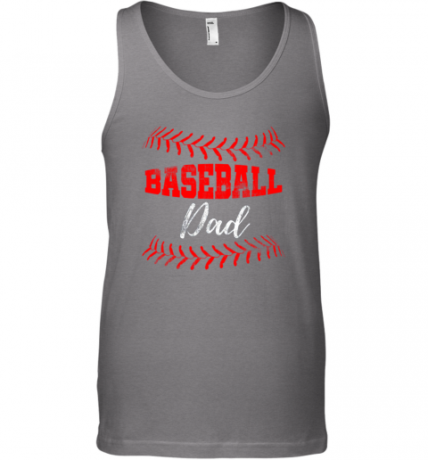 wzjs mens baseball inspired dad fathers day unisex tank 17 front graphite heather