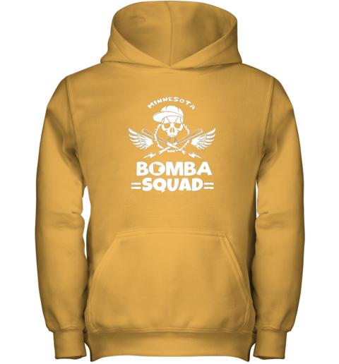 imaz bomba squad twins shirt minnesota baseball men bomba squad youth hoodie 43 front gold