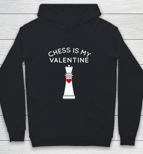 Chess Is My Valentine Youth Hoodie