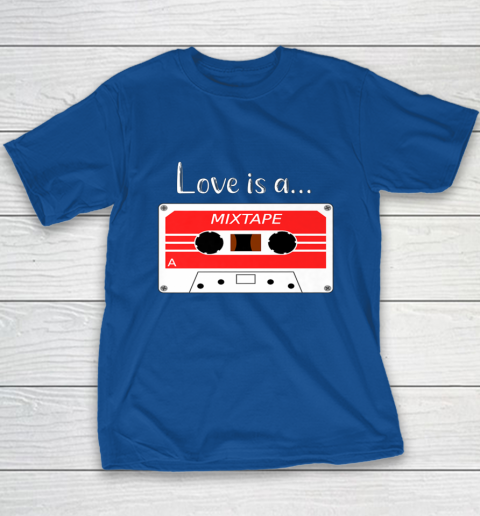 Love is a MixTape Retro Old School Valentine Youth T-Shirt 6