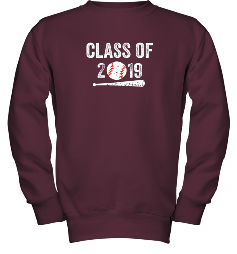 3ovu class of 2019 vintage shirt graduation baseball gift senior youth sweatshirt 47 front maroon