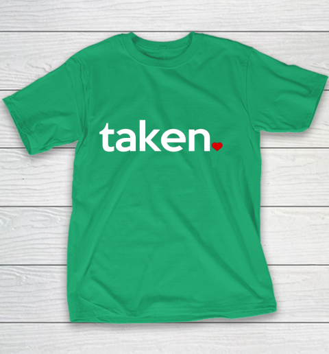 Taken Sorry I m Taken Gift for Valentine 2021 Couples Youth T-Shirt 3