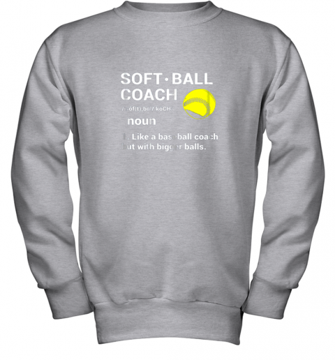 28f0 soft ball coach like baseball bigger balls softball youth sweatshirt 47 front sport grey