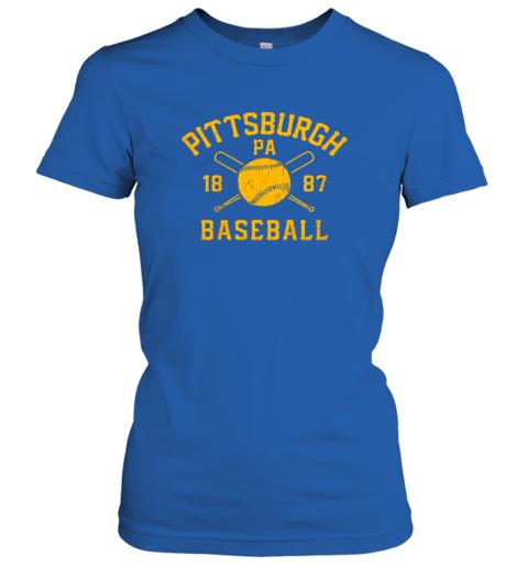 yybn vintage pittsburgh baseball pennsylvania pirate retro gift ladies t shirt 20 front royal