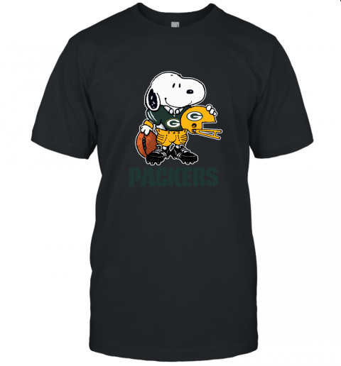 Snoopy A Strong And Proud Green Bay Packers Player NFL Unisex Jersey Tee