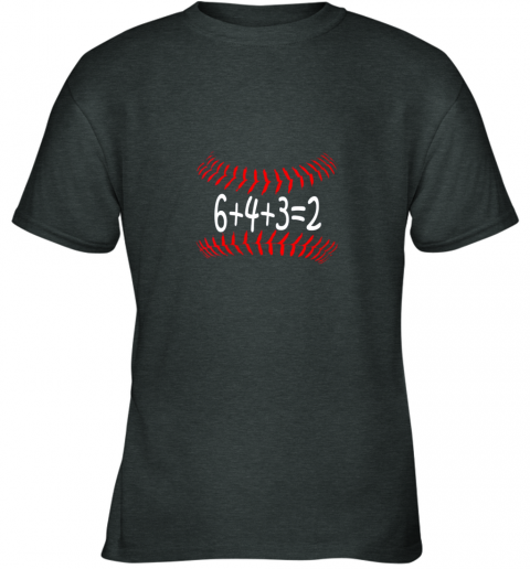 jjlg funny baseball 6432 double play shirt i gift 6 4 32 math youth t shirt 26 front dark heather