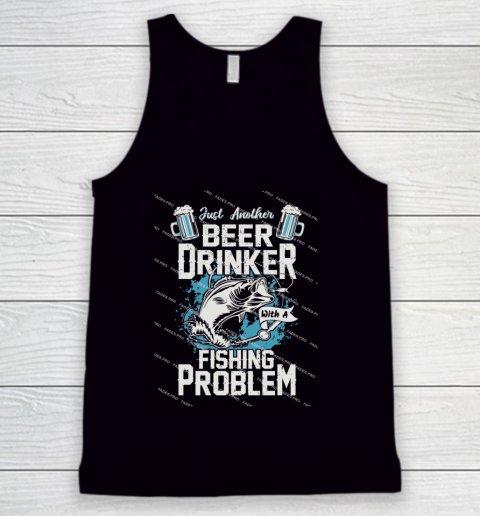 Beer Lover Funny Shirt Fishing ANd Beer Tank Top