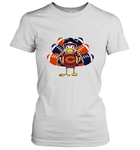 Chicago Bears  Thanksgiving Turkey Football NFL Women's T-Shirt