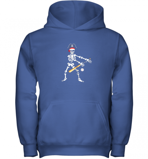 5jxj skeleton pirate floss dance with baseball shirt halloween youth hoodie 43 front royal