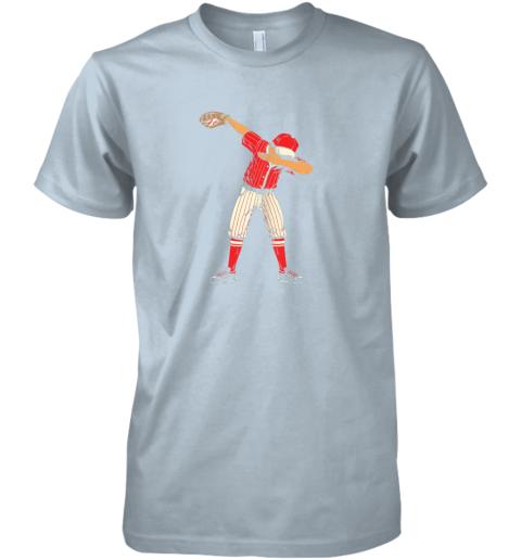 pipz dabbing baseball catcher gift shirt men boys kids bzr premium guys tee 5 front light blue